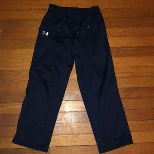 A set of Navy Blue or Gray Under Armour Sweat pant